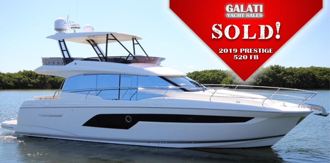 2019 520 Prestige Yachts Flybridge Sold