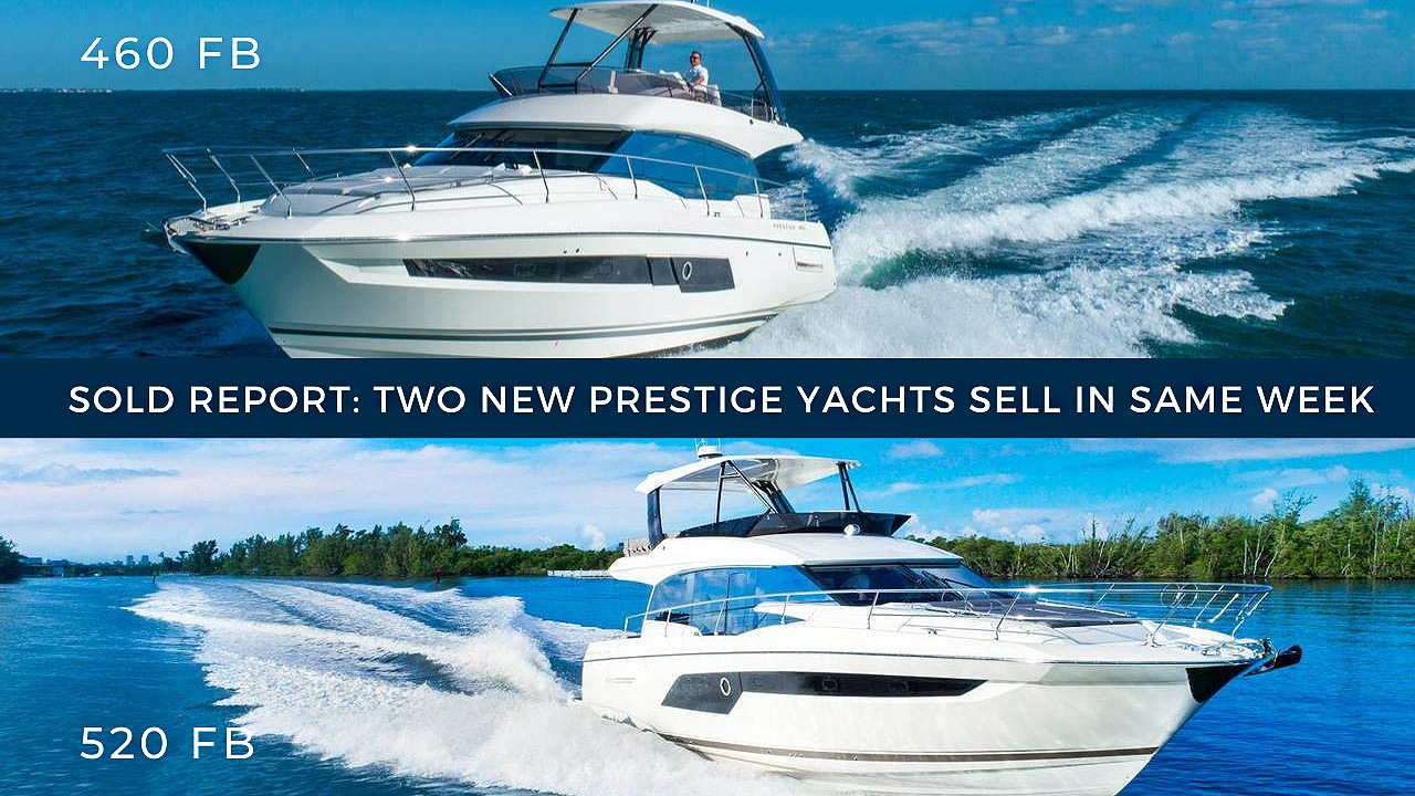 sold report: two sold prestige yachts