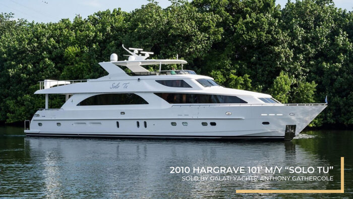 "2010 Hargrave 101' M/Y ""Solo Tu"" Sold by Galati Yachts"