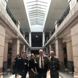 Bay Area Houston Economic Partnership Marine Job Advocacy team representing TMIC at the Capital! left to right: Jay Dee Jackson, Harriet Pilgrim, John Preston, Randy Bright!