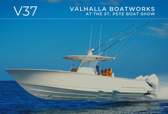 Valhalla Boatworks V37 at the St. Pete Boat Show