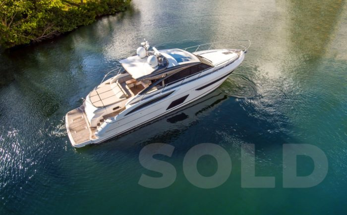 2016 V58 Princess Yacht sold report