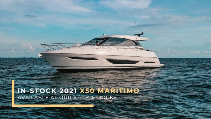 In-Stock 2021 X50 Maritimo Yacht at our St. Pete Docks