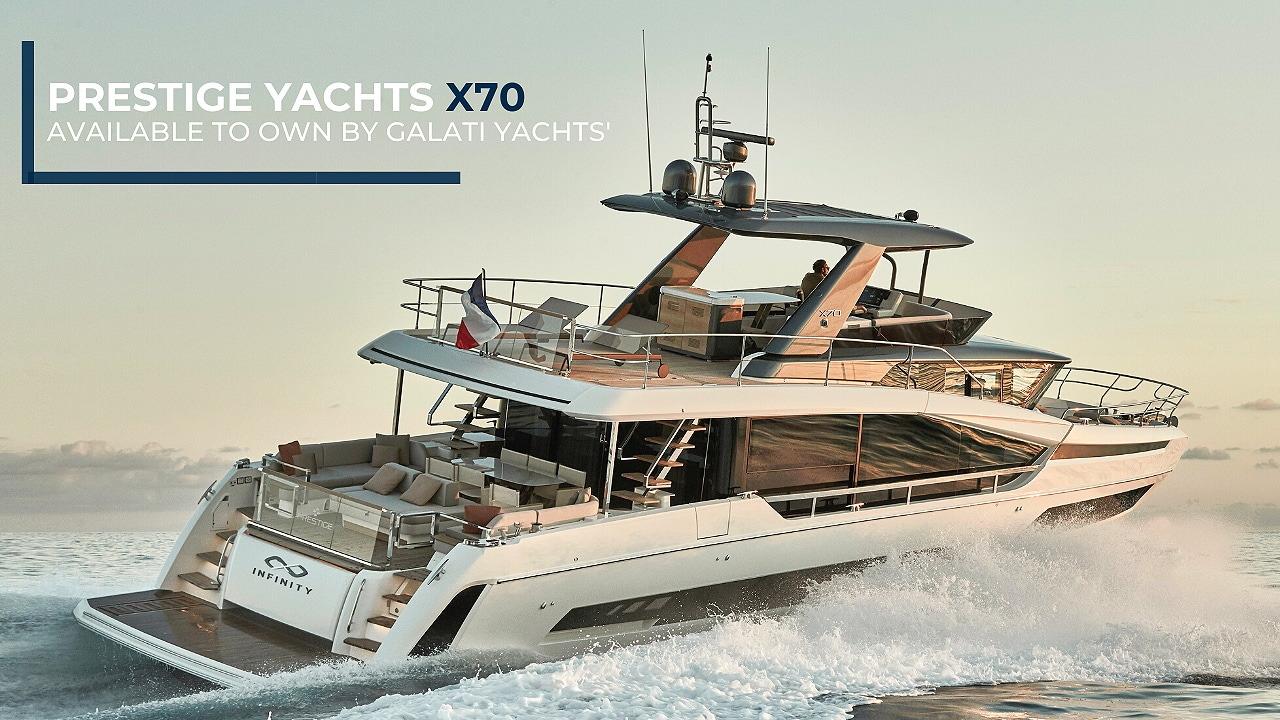 New 2021 Prestige X70 available for sale by Galati Yacht Sales