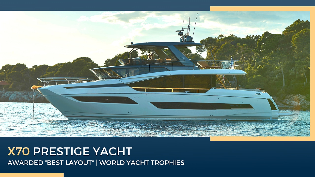 x70 prestige yacht awarded best layout at world yacht trophies