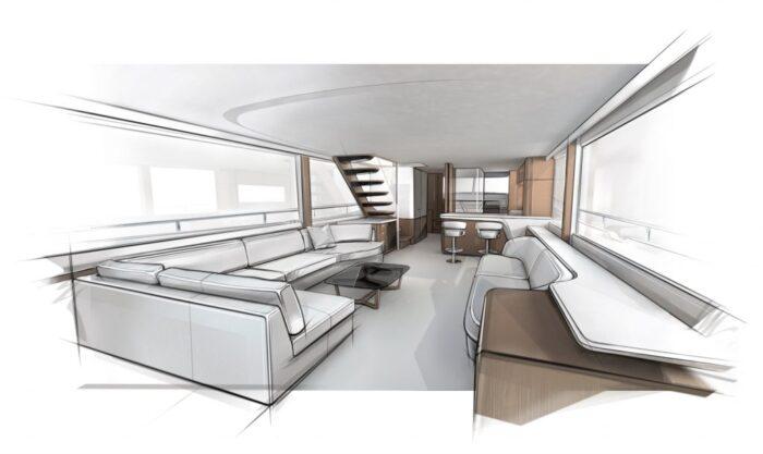 Princess Yachts X80 design layout