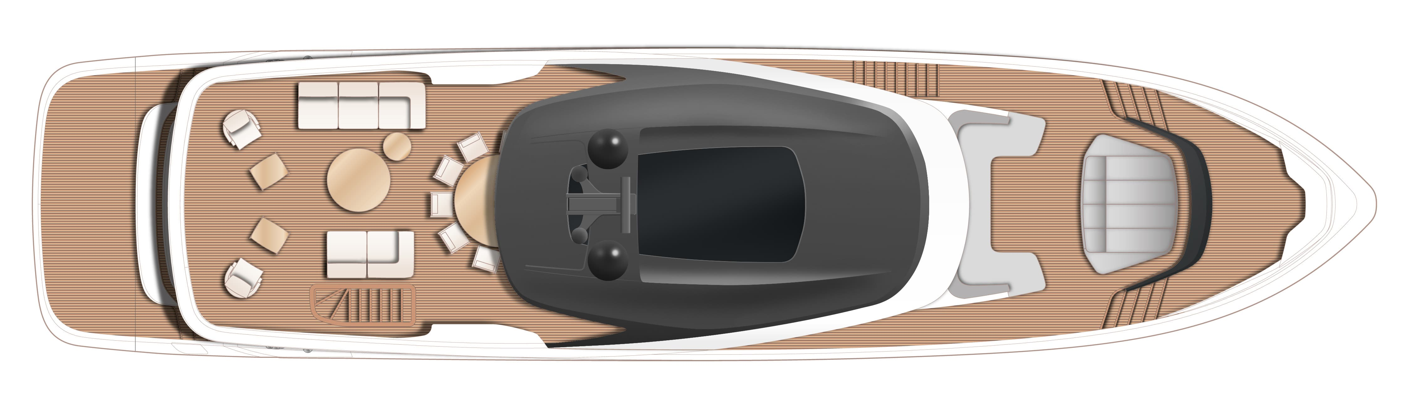 Princess Yachts X95 layout